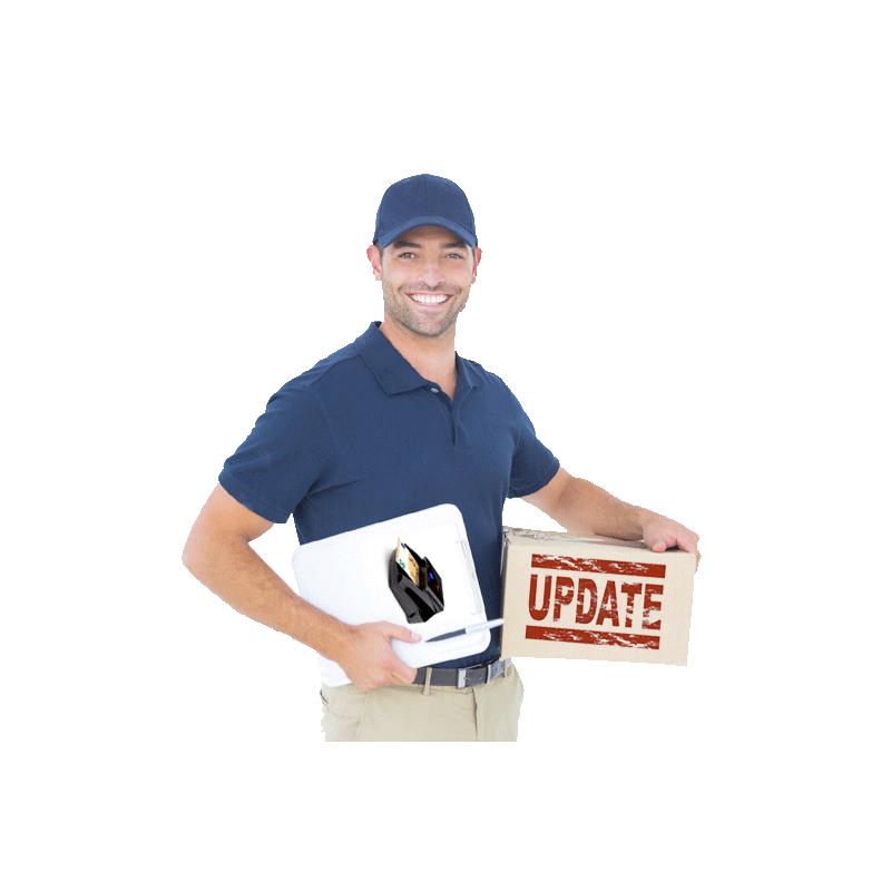 Actualización de detectores con recogida y envío