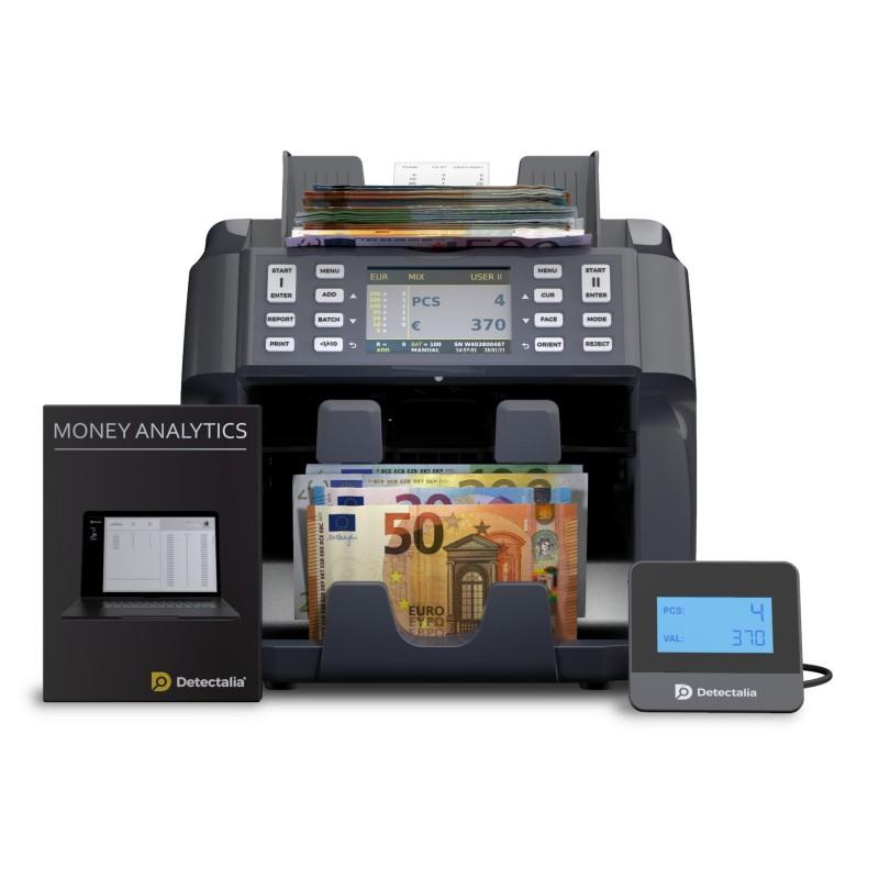 Contadora de valor de billetes y clasificadora