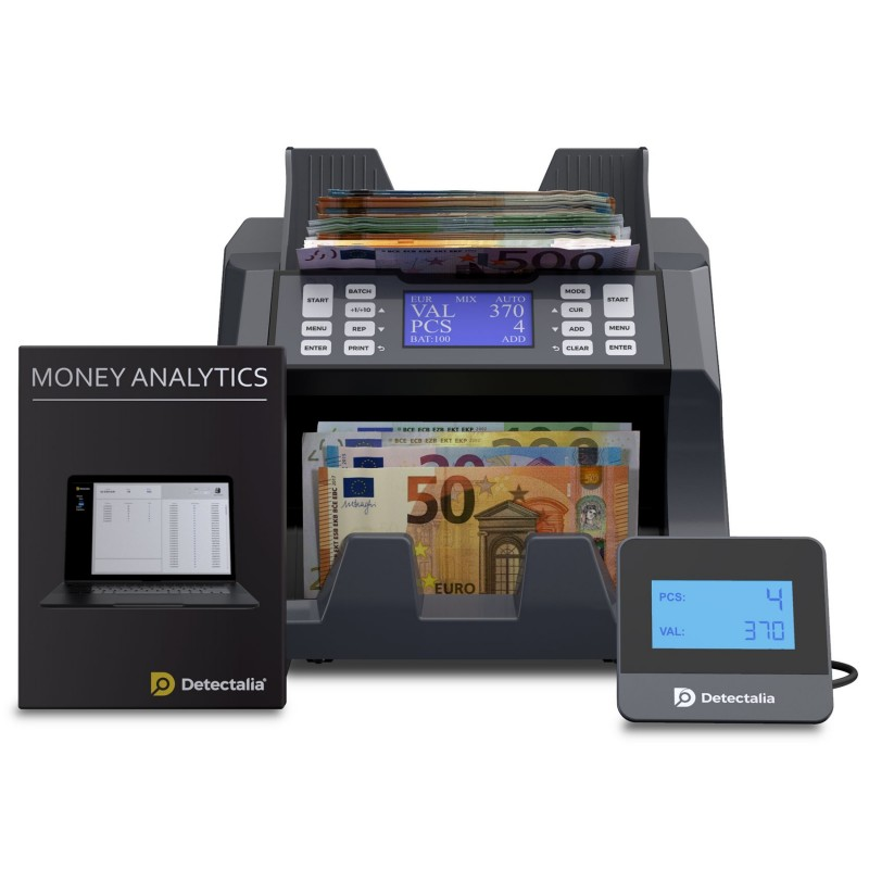 Geldzählmaschine mit wertzählung