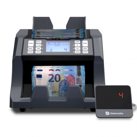Universal banknote counter suitable for all currencies