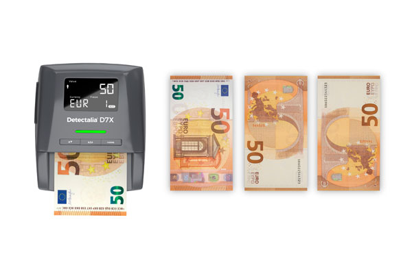 How do you find out if a counterfeit banknote detector is reliable?